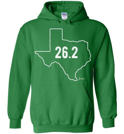 Texas Outline Marathon Hoodie T-Shirt Mbio Apparel Gildan Irish Green S