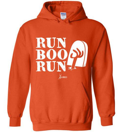 Run Boo Run Halloween Hoodie T-Shirt Mbio Apparel Gildan Orange S