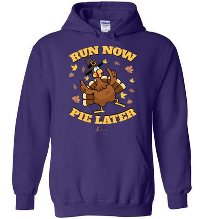 Run Now Pie Later Hoodie T-Shirt Mbio Apparel Gildan Purple S
