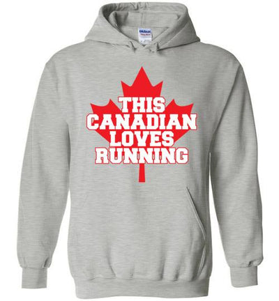 This Canadian Loves Running Hoodie