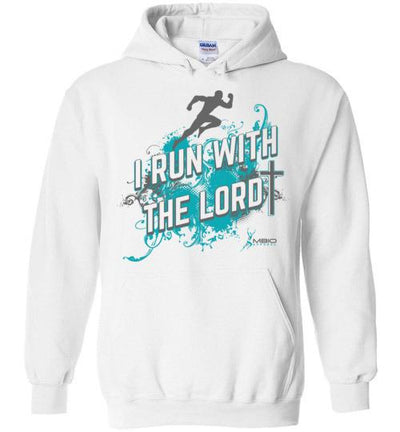 I Run With The Lord Hoodie T-Shirt Mbio Apparel Gildan White S