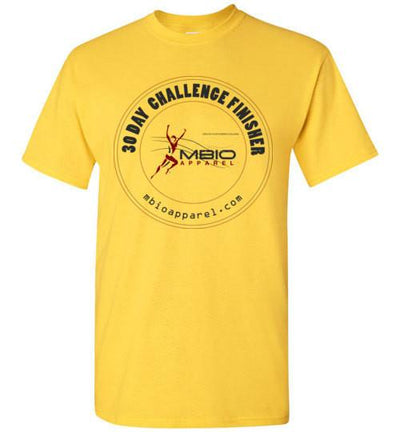 30 Day Challenge Finisher T-Shirt T-Shirt Mbio Apparel Gildan Daisy S