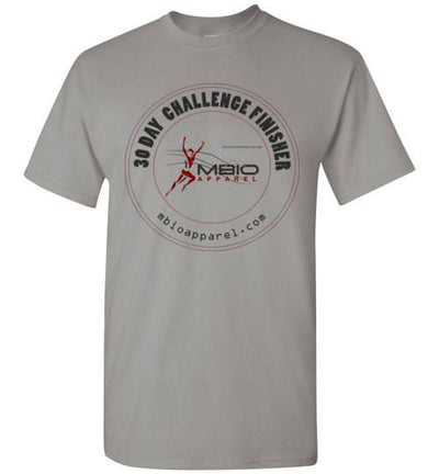 30 Day Challenge Finisher T-Shirt T-Shirt Mbio Apparel Gildan Gravel S
