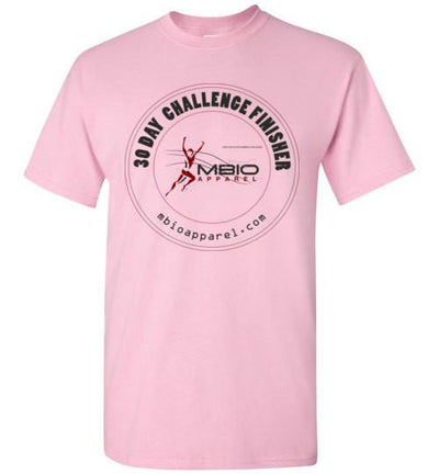 30 Day Challenge Finisher T-Shirt T-Shirt Mbio Apparel Gildan Light Pink S