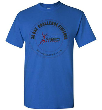 30 Day Challenge Finisher T-Shirt T-Shirt Mbio Apparel Gildan Royal S