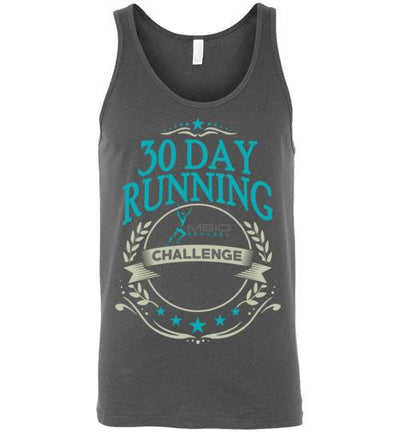 30 Day Running Challenge Tank Top T-Shirt Mbio Apparel Canvas Asphalt S