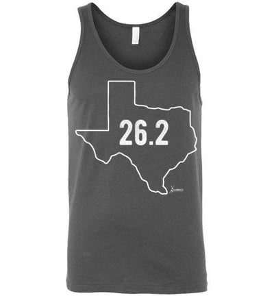 Texas Outline Marathon Tank Top T-Shirt Mbio Apparel Canvas Asphalt S