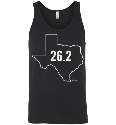 Texas Outline Marathon Tank Top T-Shirt Mbio Apparel Canvas Black S