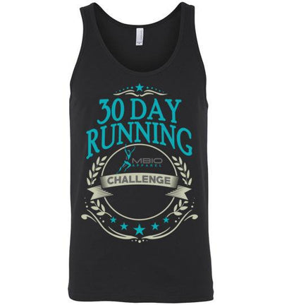30 Day Running Challenge Tank Top T-Shirt Mbio Apparel Canvas Black S