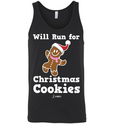 Will Run for Christmas Cookies Tank Top