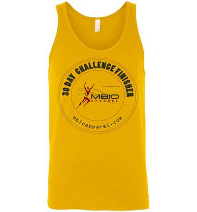 30 Day Challenge Finisher Tank Top T-Shirt Mbio Apparel Canvas Gold S