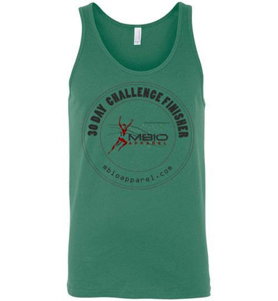 30 Day Challenge Finisher Tank Top T-Shirt Mbio Apparel Canvas Kelly S