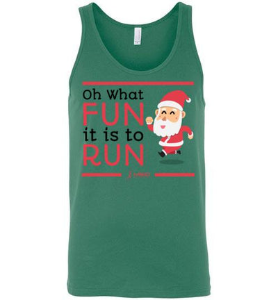 Oh What Fun it is to Run Tank Top T-Shirt Mbio Apparel Canvas Kelly S
