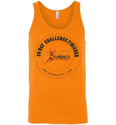 30 Day Challenge Finisher Tank Top T-Shirt Mbio Apparel Canvas Orange S