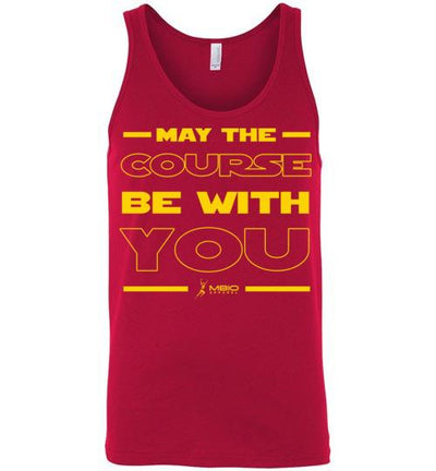 May The Course Be With You Tank Top T-Shirt Mbio Apparel Canvas Red S