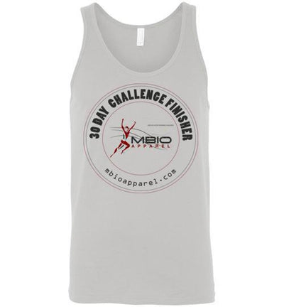 30 Day Challenge Finisher Tank Top T-Shirt Mbio Apparel Canvas Silver S