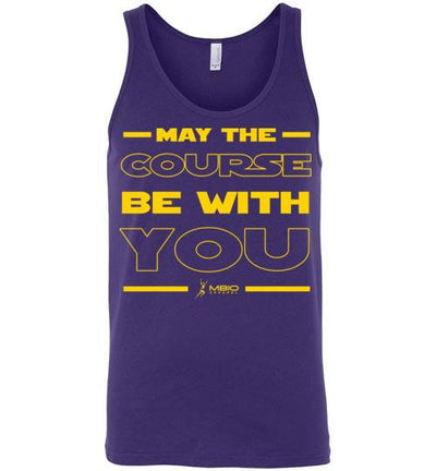 May The Course Be With You Tank Top T-Shirt Mbio Apparel Canvas Team Purple S