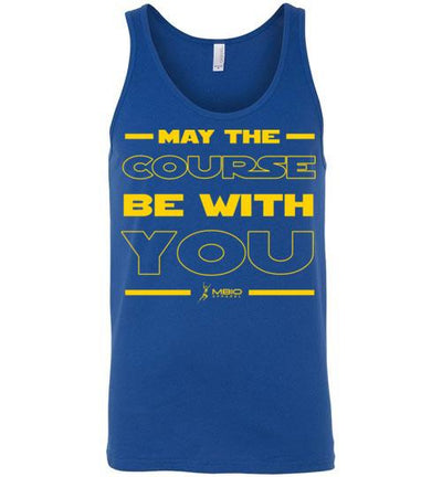 May The Course Be With You Tank Top T-Shirt Mbio Apparel Canvas True Royal S