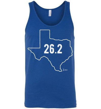 Texas Outline Marathon Tank Top T-Shirt Mbio Apparel Canvas True Royal S