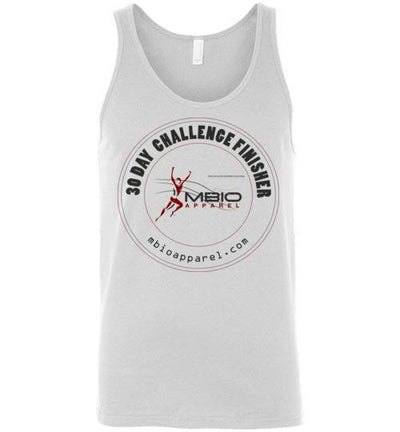 30 Day Challenge Finisher Tank Top T-Shirt Mbio Apparel Canvas White S