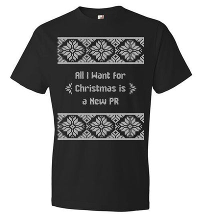 All I Want for Christmas T-Shirt T-Shirt Mbio Apparel Black S