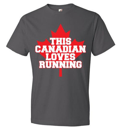 This Canadian Loves Running T-Shirt T-Shirt Mbio Apparel Anvil Charcoal S