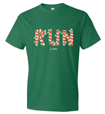 Festive Run T-Shirt T-Shirt Mbio Apparel Anvil Kelly Green S
