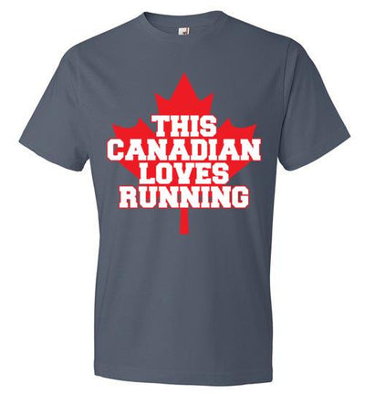 This Canadian Loves Running T-Shirt T-Shirt Mbio Apparel Anvil Lake S