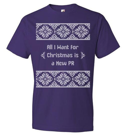 All I Want for Christmas T-Shirt T-Shirt Mbio Apparel Anvil Purple S