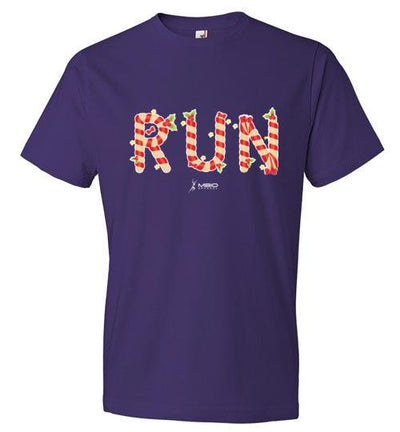 Festive Run T-Shirt T-Shirt Mbio Apparel Anvil Purple S