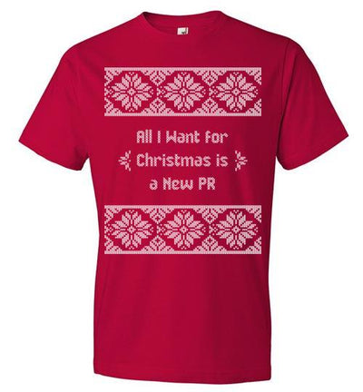 All I Want for Christmas T-Shirt T-Shirt Mbio Apparel Anvil Red S
