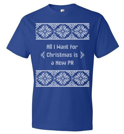 All I Want for Christmas T-Shirt T-Shirt Mbio Apparel Anvil Royal Blue S