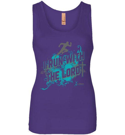 I Run With The Lord Women's Jersey Tank