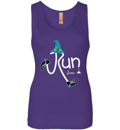 Running Witch Halloween Women's Jersey Tank