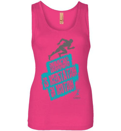 Running is Meditation in Motion Women's Jersey Tank T-Shirt Mbio Apparel Next Level Raspberry S