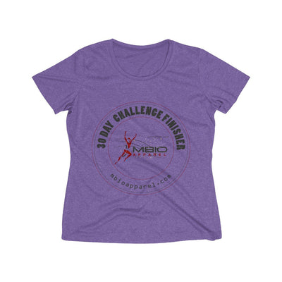 30 Day Challenge Finisher Women's Short Sleeve Tech Shirt T-Shirt Printify Sport-Tek Purple Heather XS