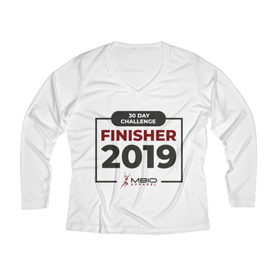 2019 30 Day Challenge Finisher Women's Long Sleeve Tech Shirt Long-sleeve Printify White L