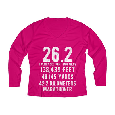 Marathoner Women's Long Sleeve Tech Shirt Long-sleeve Printify Sport Tek Pink Raspberry XS