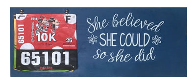 Running Medal Hanger - She Believed She Could So She Did Running Medal Hanger Mbio Apparel