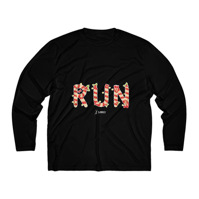 Festive Run Men's Long Sleeve Tech Shirt Long-sleeve Printify Sport-Tek Black XS