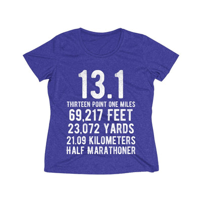 Half-Marathoner Women's Short Sleeve Tech Shirt T-Shirt Printify Sport Tek Cobalt Heather S