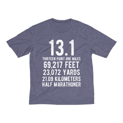 Half-Marathoner Men's Short Sleeve Tech Shirt T-Shirt Printify Sport Tek True Navy Heather XS
