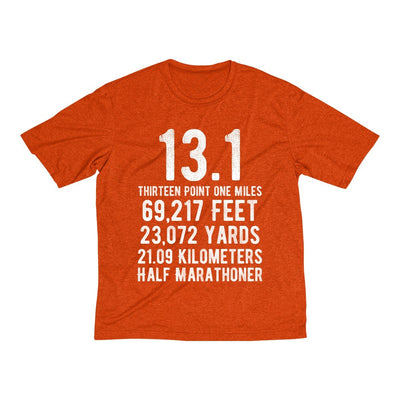Half-Marathoner Men's Short Sleeve Tech Shirt T-Shirt Printify Sport Tek Deep Orange Heather XS