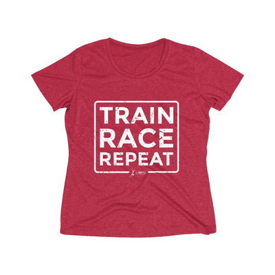 Train Race Repeat Women's Short Sleeve Tech Shirt