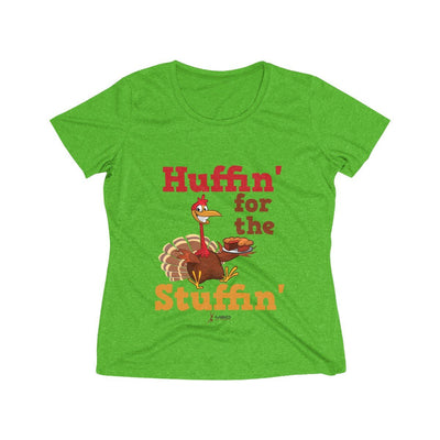 Huffin' for the Stuffin' Women's Short Sleeve Tech Shirt T-Shirt Printify Sport-Tek Turf Green Heather XS