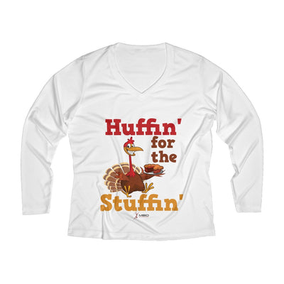 Huffin' for the Stuffin' Women's Long Sleeve Tech Shirt Long-sleeve Printify White XS