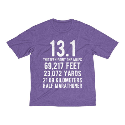 Half-Marathoner Men's Short Sleeve Tech Shirt T-Shirt Printify Sport Tek Purple Heather XS