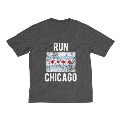 Run Chicago Men's Short Sleeve Tech Shirt T-Shirt Printify Sport Tek Graphite Heather XS