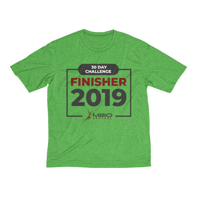 2019 30 Day Challenge Finisher Men's Short Sleeve Tech Shirt T-Shirt Printify Sport Tek Turf Green Heather XS
