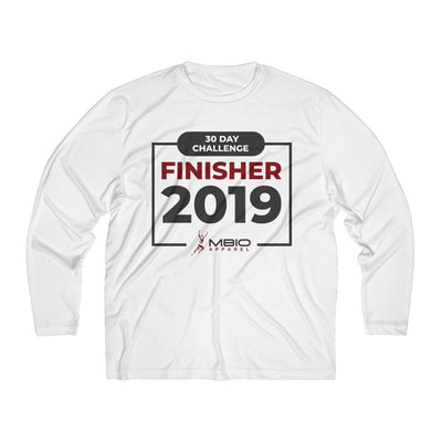 2019 30 Day Challenge Finisher Men's Long Sleeve Tech Shirt Long-sleeve Printify White L
